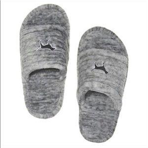 Grey slippers!